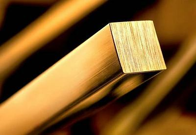 Solid Brass Square Bar 10MM diameter and Various lengths