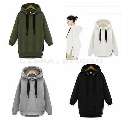 Korean Women Fashion Hoodie Sweatshirt Casual Hooded Coat Pullover Pullover Tops