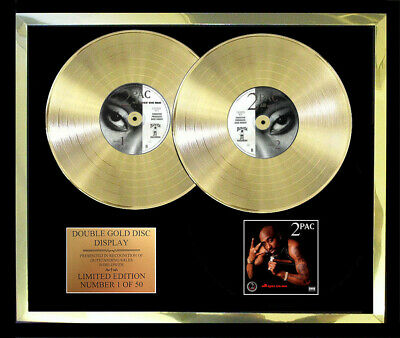2Pac (Tupac) All Eyez On Me Double Album Cd Gold Disc Free Postage! Gift Idea