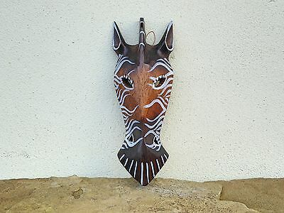Wooden Hand Carved Giraffe Mask African Tribal Ethnic Style 25cm.....