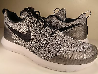super cheap factory authentic look out for NIKE ROSHE NM Flyknit SE Wolf Grey Black White SZ 9 (816531-002 ...