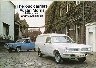 Austin Morris Marina 7/10 cwt Van & Pick Up 1974-78 UK Brochure Pub. No. 3071/D