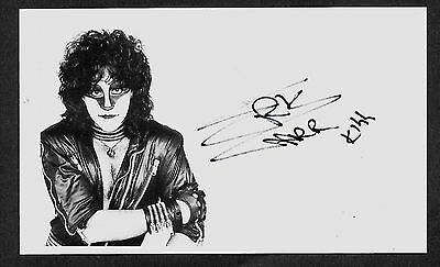 Eric Carr Kiss Autograph Reprint Appears Authentic On 3x5 Card