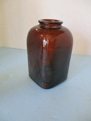 "Antique Brown Glass ""snuff"" Bottle, Clean, Very Collectible Classic"