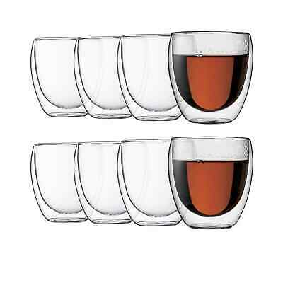 NEW Bodum Pavina Double Wall Glasses 250ml - Buy 6 Get 8 (RRP $75)