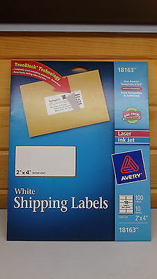 Avery White Shipping Labels 2 Inch By 4 Inch 18163