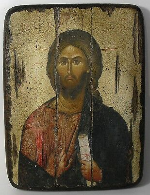 Handmade copy ancient ORTHODOX ICON Jesus Christ the Pantocrator 11L