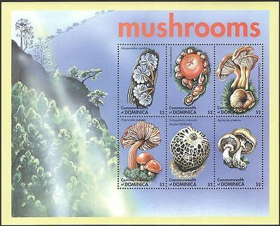 Dominica 2001 Mushrooms Fungi 6v MS #2 MNH