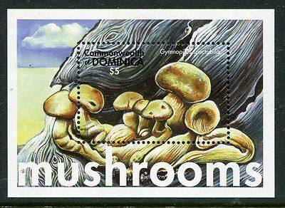 Dominica 2001 Mushrooms Fungi 1v MS #! MNH