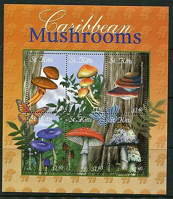 St Kitts 2001 Mushrooms Fungi 6v MS MNH
