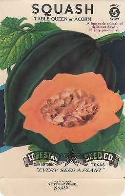 Vntage seed packets 5¢ Table Queen Squash-----3