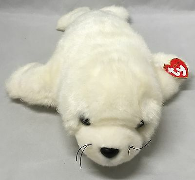 """Ty FLIPPERS Artic White Seal (15"""") Classic Plush 2002 Boys Girls 3+"""