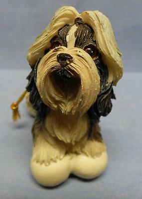 Christmas Ornament Shih Tzu Dog Figurine Excellent Condition