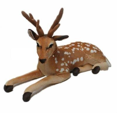 Large Cuddly Golden Deer Reindeer Animal Plush Soft Stuffed Toy 70 cm
