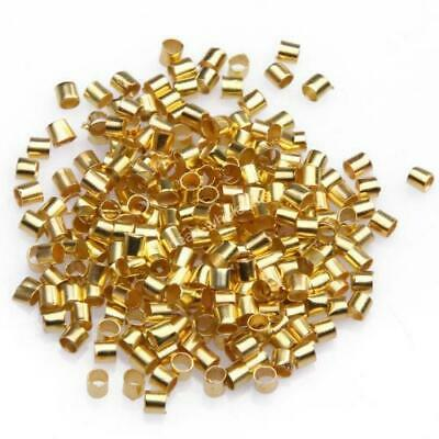 500 x GOLD PLATE 1.5mm TUBE CRIMP BEADS FINDINGS