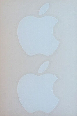 Apple Logo Stickers Genuine Apple Stickers x 2 White