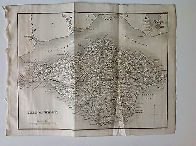 Isle Of Wight c1829 Antique Map Very Rare Newport Yarmouth Chale Bay Dunnose