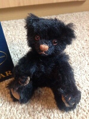 "Dean's Mini Collectable Bear, Black Tulip. 5"" Fully Jointed In Box. *SALE*"