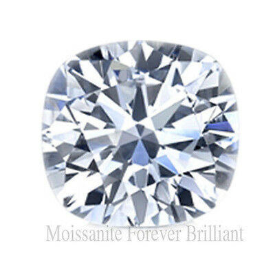 Forever Brilliant Cushion Cut Loose Moissanite Stone Certified Charles & Colvard