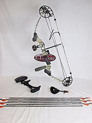 NEW Mission Menace compound bow package Mathews Lost Camo Right hand 16-52 lbs