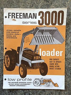 Vintage Freeman Series 3000 Tractor Loader Dealers Brochure Advertising
