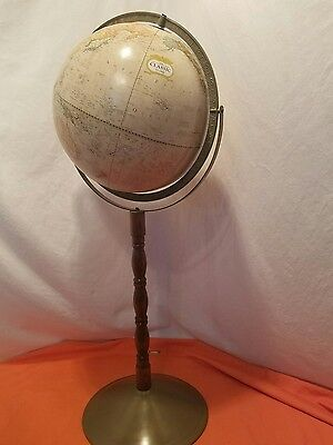 Cram's World Globe Vintage Classic 33 inches Tall Wood Stand & Metal Base