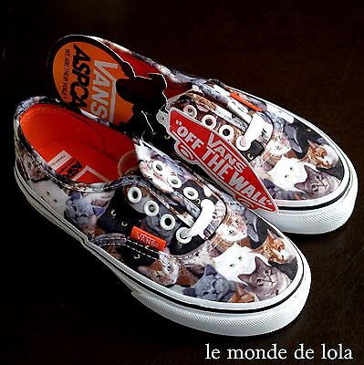 df47d3a6e1 New Vans Authentic Aspca Cats Kitten Kids Shoe Girls Rare Youth Size 10.5  Nib
