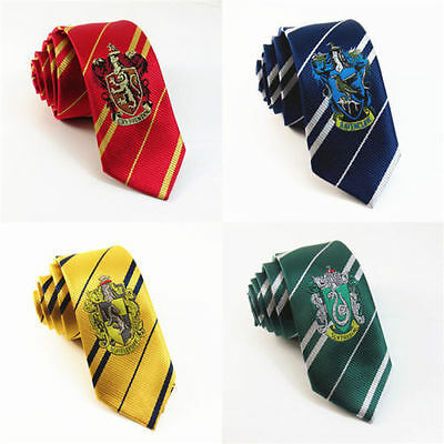 Fashion Harry Potter Gryffindor Slytherin Hufflepuff Ravenclaw Necktie Silk Tie