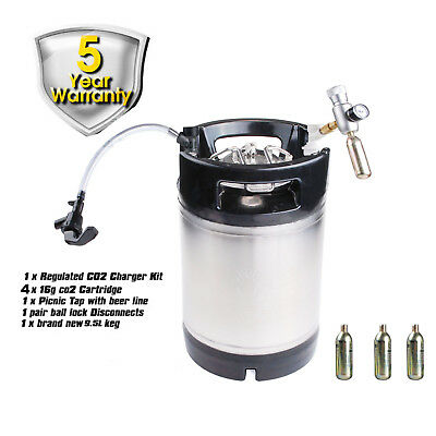PREMIUM BRAND NEW 9.5 L BALL LOCK KEG + Picnic Tap + CO2 CHARGER PARTY