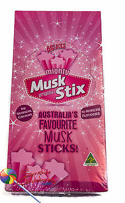 MIGHTY MUSK STICK LOLLIES - FYNA approx  180  Candy Musk sticks Post Included