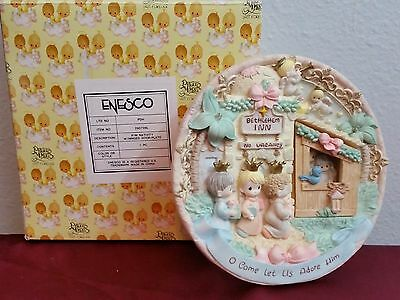 Precious Moments Plate #290726 'COME LET IS ADORE HIM' - (1998) Wise Men~