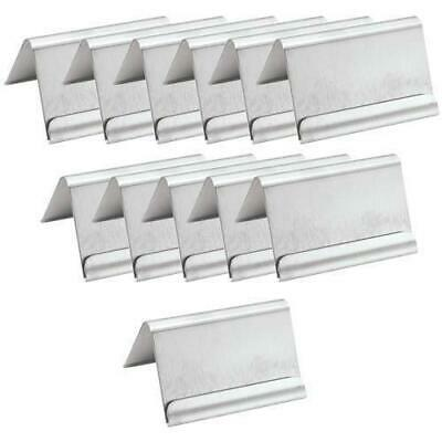12x Buffet Card Holder, A Frame, Stainless Steel, 60mm, Sign / Table Number