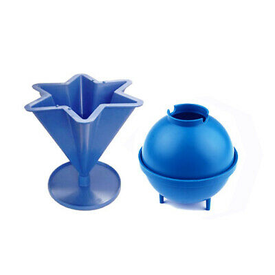 """Set x 2, 3"""" Dia Sphere Round Candle Mould & 6 Pointed Star Mould, UK Made. S7599"""