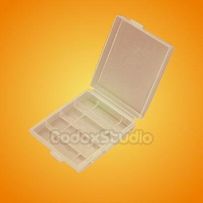 New Hard Plastic White Case Cover Holder 4*AA / 5*AAA Battery Storage Box