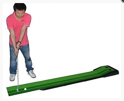 Golf Practice Putting Set Mat Home Training Artificial Grass Non-Skid Mobile