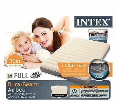 Air Bed INTEX Double High Airbed Best Quality Full Size Deluxe Comfort Support