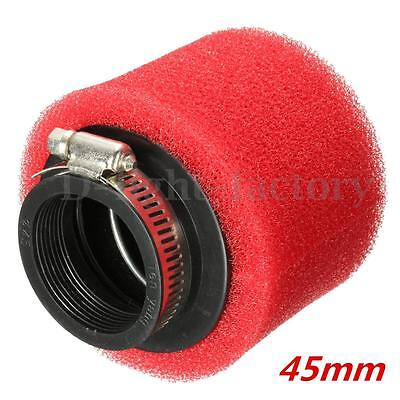 45mm Motorcycle red Foam Air Filter for Scooters Moped Quad ATV GO KART GY6 50CC