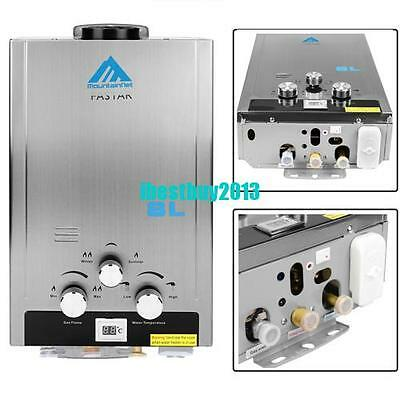 8L Natural Gas Hot Water Heater Tankless Instant Boiler 16kW 2000Pa