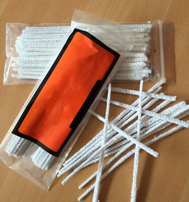 50Pcs Smoking / Cotton Pipe Cleaners Tobacco Pipe Intensive Cleaning Tool White