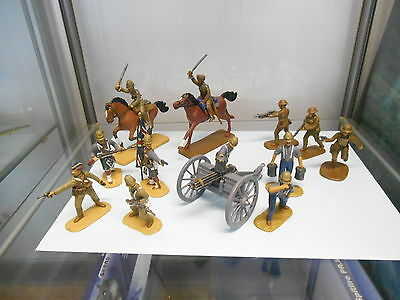 Armies In Plastic Set Of Painted Soldiers 1/32 X  9 British Empire Troops