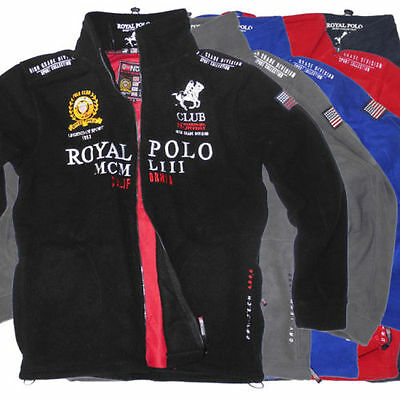Geographical Norway Uniroyal Men's Fleece Jacket Polo Club Outdoor Pullover