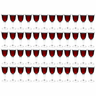 Plastic Wine Glasses Red White Outdoor Dining Strong Drinking Cups x48