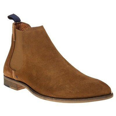 New Mens SOLE Tan Wynter Suede Boots Chelsea Elasticated Pull On
