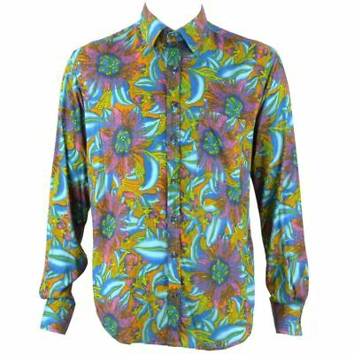 9ed0fdd7 Mens Loud Shirt Retro Psychedelic Festival Party Funky Abstract Multi  REGULAR
