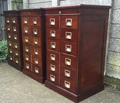 Superb Set Of 3 Bankers Haberdashery Filing Cabinet Drawers -2 Man Delivery