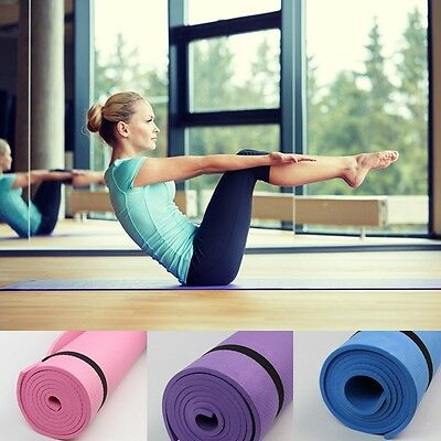 6mm Non-slip Yoga Mat Health Lose Weight Exercise Pad Sport Fitness Durable New