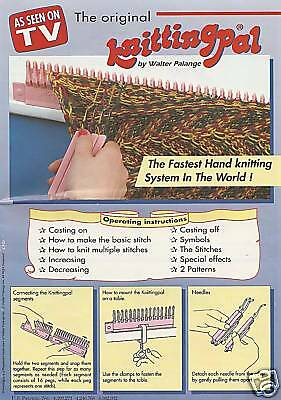 Knitting Pal Drastically Reduces Time, 20 Diff. Stitche