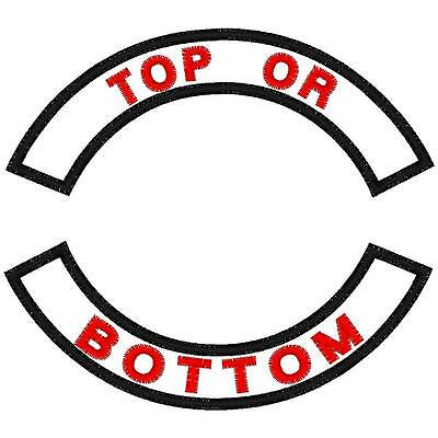 """Custom Embroidered Small Rocker Patch 4"""""""
