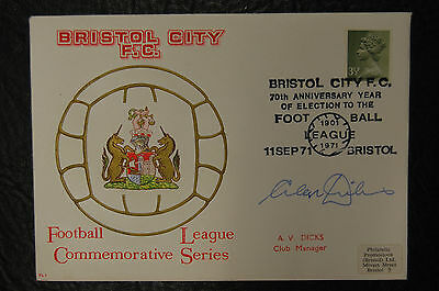 Alan Dicks Bristol City Signed Philatelic Promotions 1971-73 Club Postal Cover