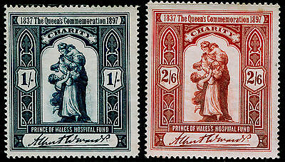 1897 Jubilee Charity Stamps, Lh Mint.